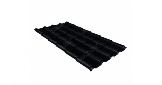 Металлочерепица камея 0,45 Drap RAL 9005