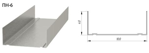 Профиль ПН 100*40 3 м 0,4 мм