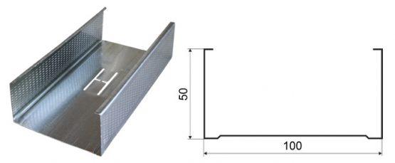 Профиль ПС 100*50 3 м 0,4 мм